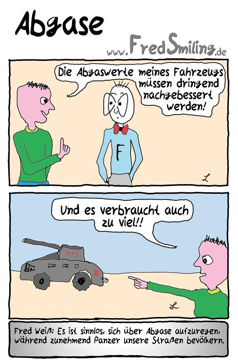 FredSmiling Comic Spass abgase