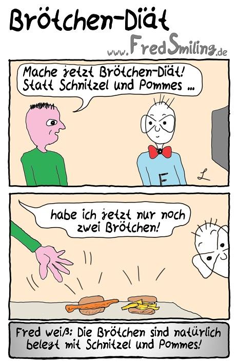 FredSmiling Comic Spass broetchen-diaet
