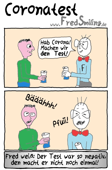 FredSmiling Comic Spass coronatest