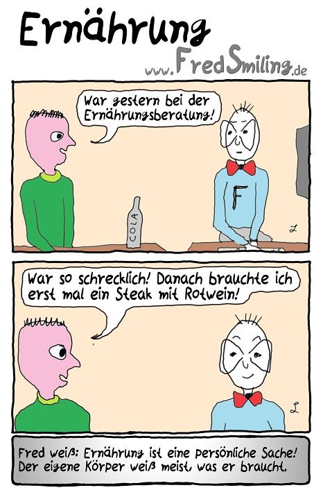 FredSmiling Comic Spass ernaehrung