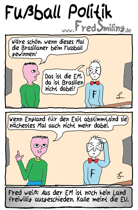 FredSmiling Comic Spass fussball-politik