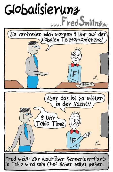 FredSmiling Comic Spass globalisierung