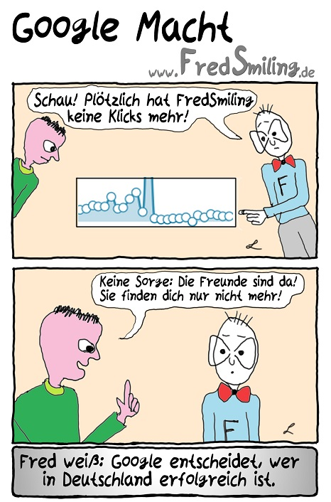 FredSmiling Comic Spass google-macht