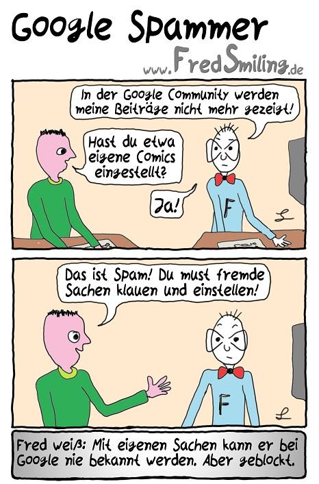 FredSmiling Comic Spass google-spammer