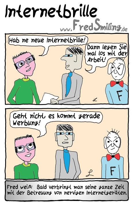 FredSmiling Comic Spass internetbrille