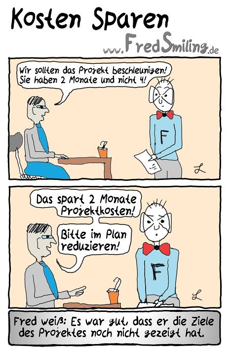 FredSmiling Comic Spass kosten-sparen