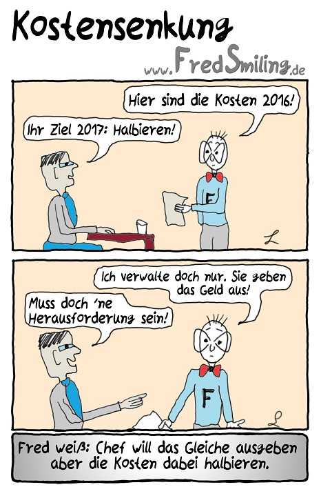 FredSmiling Comic Spass kostensenkung