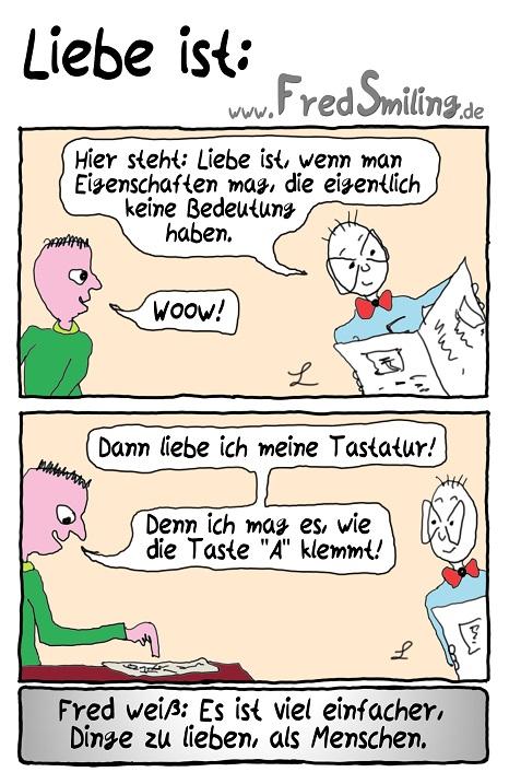 FredSmiling Comic Spass liebe-ist