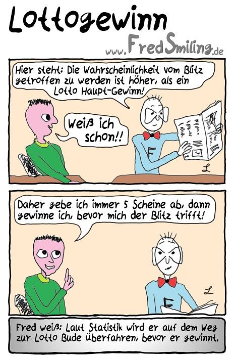 FredSmiling Comic Spass lottogewinn