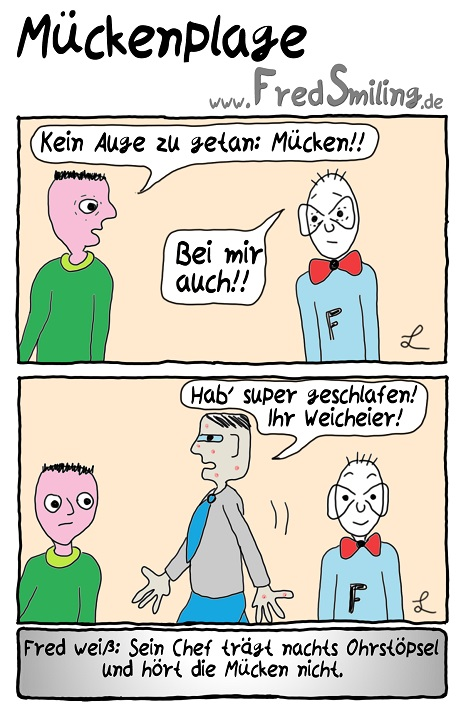 FredSmiling Comic Spass mueckenplage