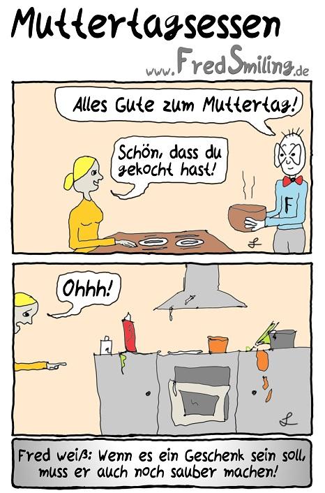 FredSmiling Comic Spass muttertagsessen