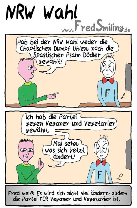 FredSmiling Comic Spass nrw-wahl