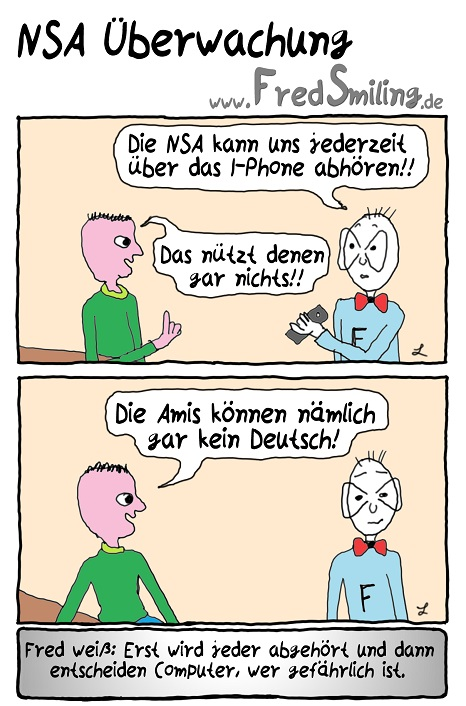 FredSmiling Comic Spass nsa-ueberwachung