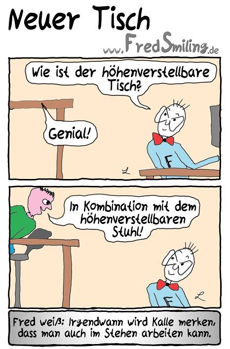 FredSmiling Comic Spass neuer-tisch