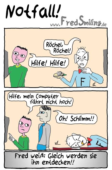 FredSmiling Comic Spass notfall