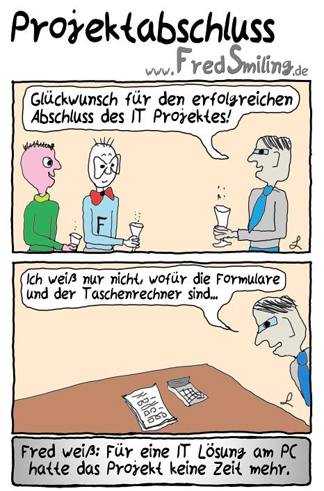 FredSmiling Comic Spass projektabschluss
