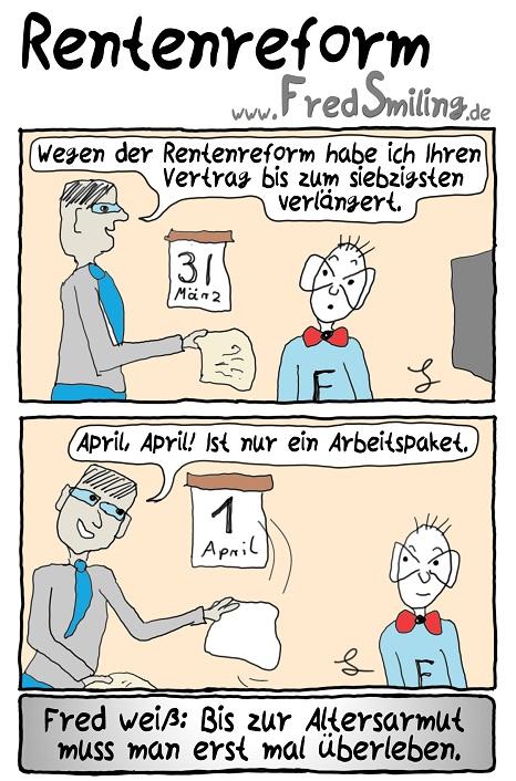 FredSmiling Comic Spass rentenreform