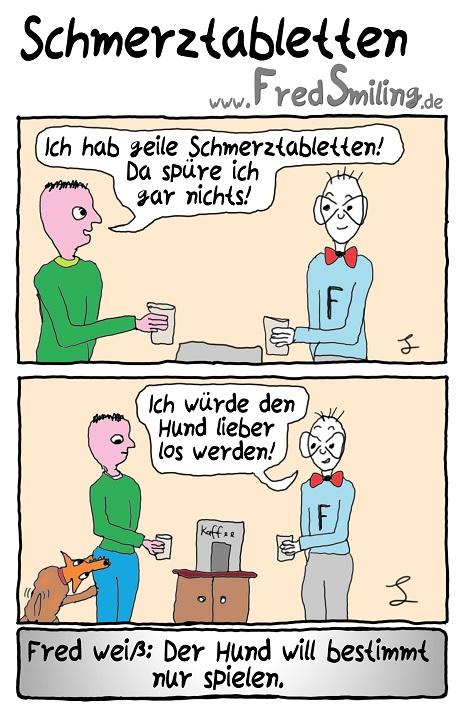 FredSmiling Comic Spass schmerztabletten