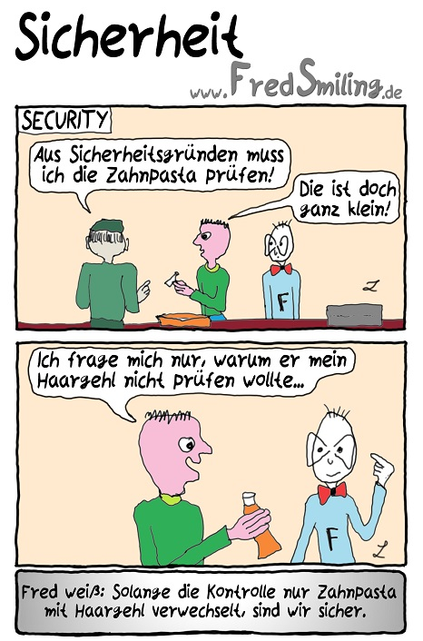 FredSmiling Comic Spass sicherheit