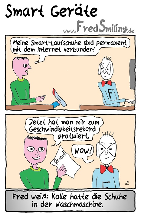 FredSmiling Comic Spass smart-geraete
