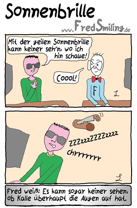 FredSmiling Comic Spass sonnenbrille