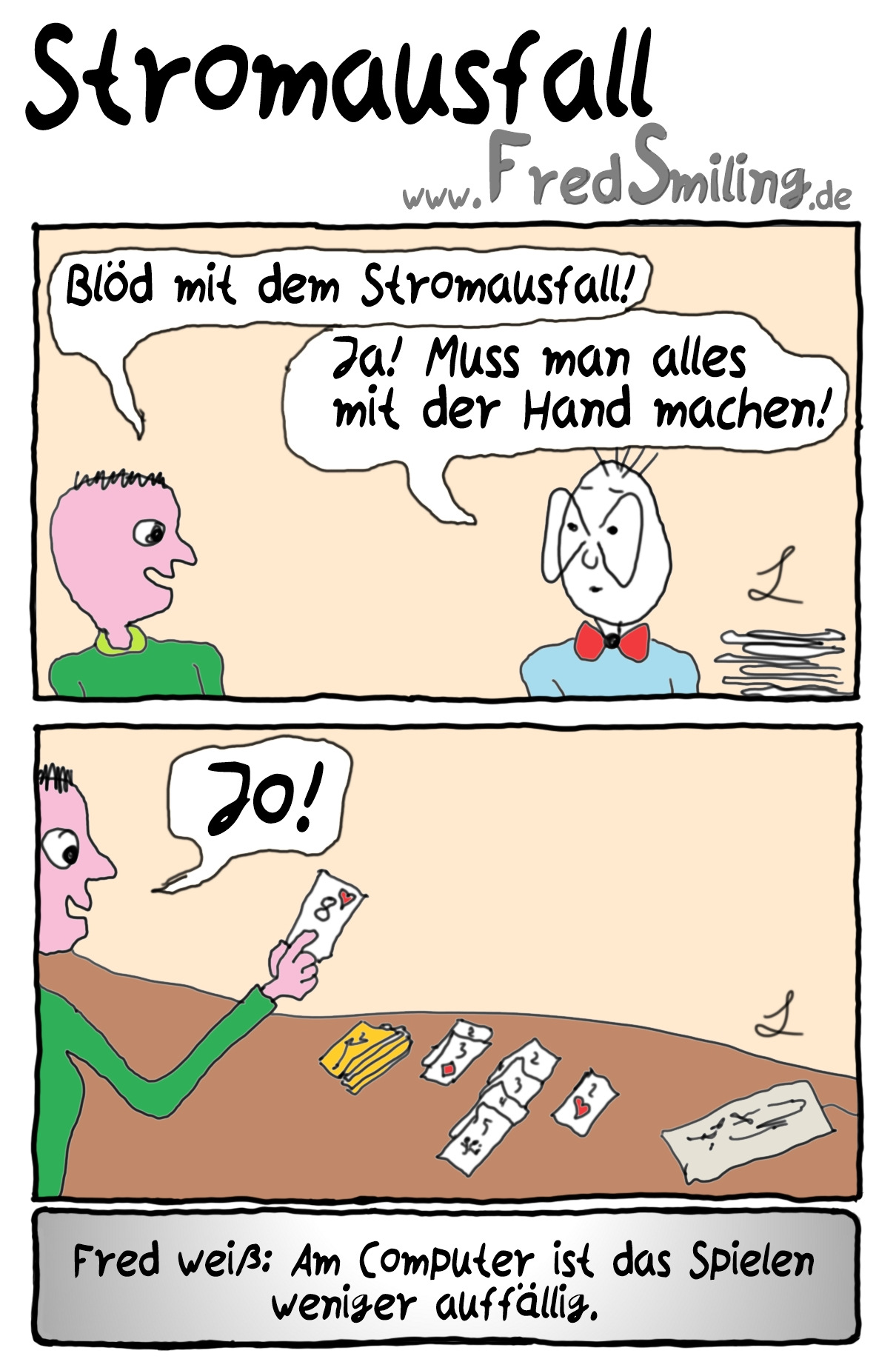 FredSmiling Comic Spass stromausfall