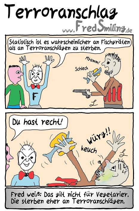 FredSmiling Comic Spass terroranschlag