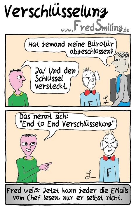 FredSmiling Comic Spass verschluesselung