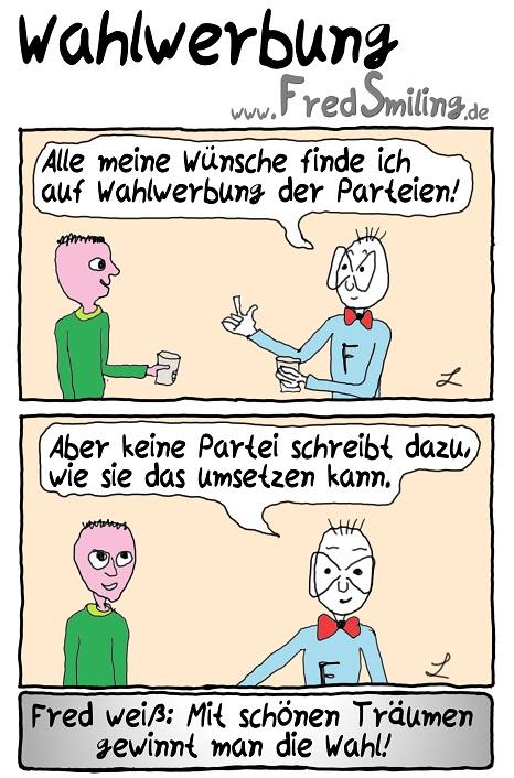 FredSmiling Comic Spass wahlwerbung