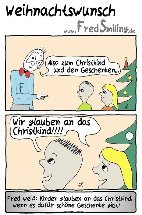 FredSmiling Comic Spass weihnachtswunsch