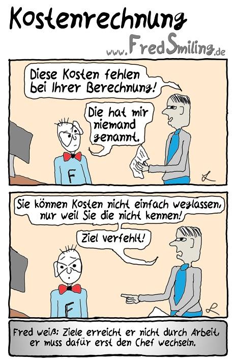 FredSmiling Comic Spass kostenrechnung
