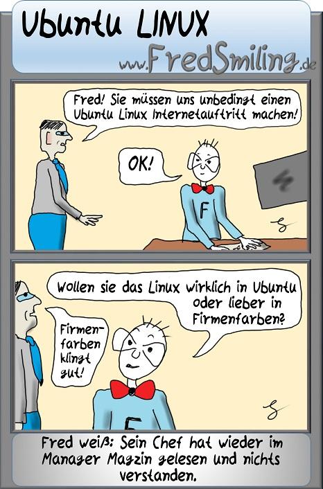 FredSmiling ubuntu-linux